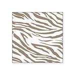 Cocoa Zebra Print Square Sticker 3