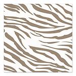 Cocoa Zebra Print Square Car Magnet 3