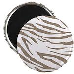 Cocoa Zebra Print Magnet