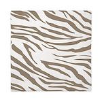 Cocoa Zebra Print Queen Duvet