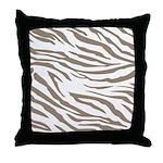 Cocoa Zebra Print Throw Pillow