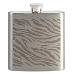 Cocoa Zebra Print Flask
