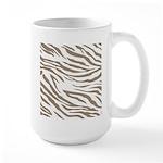Cocoa Zebra Print Large Mug