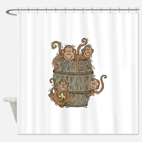 barrel of monkeys.png Shower Curtain