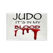 Judo It's in my blood Rectangle Magnet