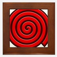 Red Spiral Framed Tile