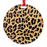 Cheetah Print Round Ornament