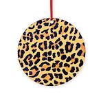 Cheetah Print Ornament (Round)