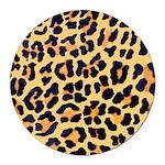 Cheetah Print Round Car Magnet
