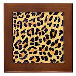 Cheetah Print Framed Tile