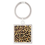 Cheetah Print Square Keychain