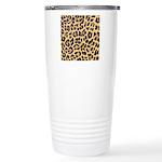 Cheetah Print Stainless Steel Travel Mug