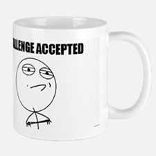 Challenge Accepted Small Mugs