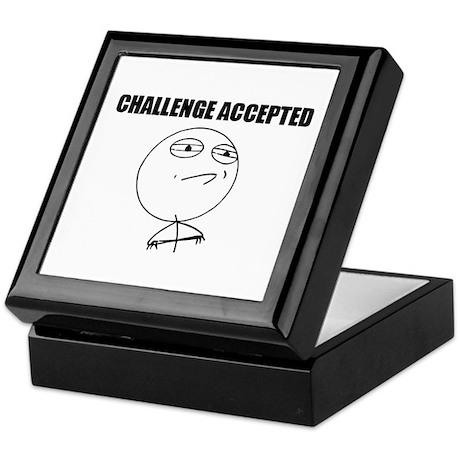 Challenge Accepted Keepsake Box