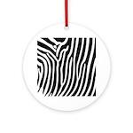 Black and White Zebra Print Ornament (Round)