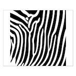 Black and White Zebra Print Poster