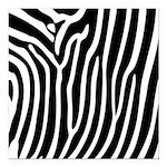 Black and White Zebra Print Square Car Magnet 3