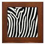 Black and White Zebra Print Framed Tile