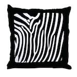 Black and White Zebra Print Throw Pillow