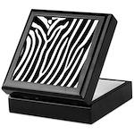 Black and White Zebra Print Keepsake Box