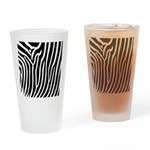 Black and White Zebra Print Drinking Glass