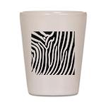 Black and White Zebra Print Shot Glass