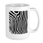 Black and White Zebra Print Large Mug