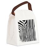 Black and White Zebra Print Canvas Lunch Bag