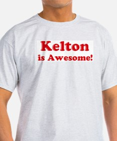 Kelton is Awesome Ash Grey T-Shirt