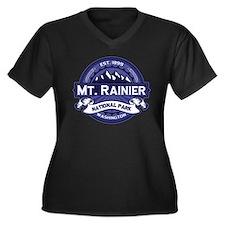 Mt. Rainier Midnight Women's Plus Size V-Neck Dark
