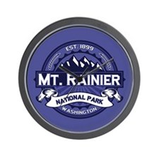 Mt. Rainier Midnight Wall Clock