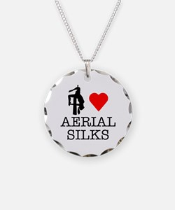 I Love Aerial Silks Necklace