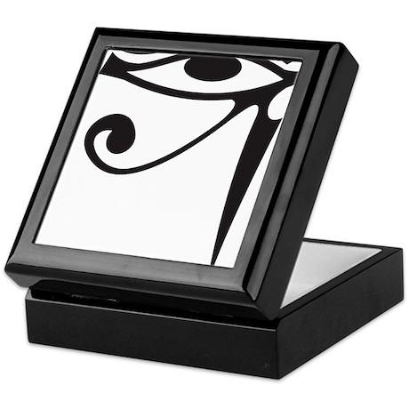 Eye of Horus (Black) Keepsake Box