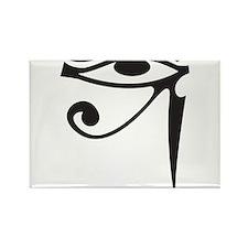 Eye of Horus (Black) Rectangle Magnet