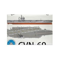 USS Eisenhower CVN-69 Rectangle Magnet