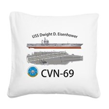 USS Eisenhower CVN-69 Square Canvas Pillow