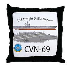 USS Eisenhower CVN-69 Throw Pillow