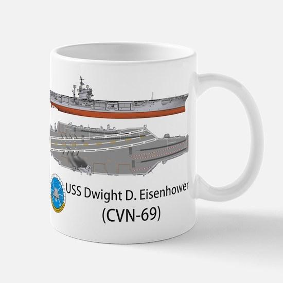 USS Eisenhower CVN-69 Mug