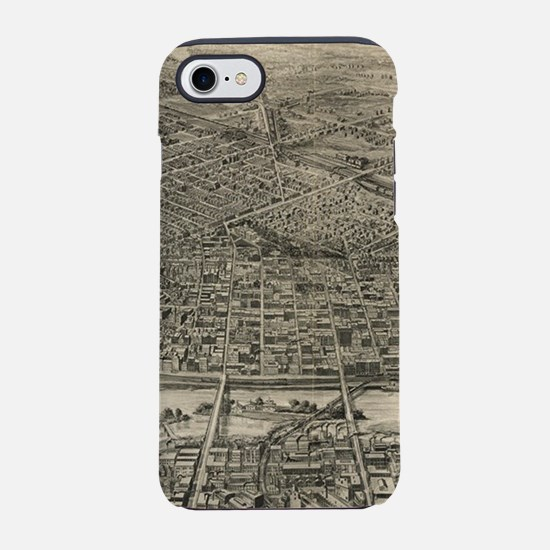 Vintage Pictorial Map of St. P iPhone 7 Tough Case