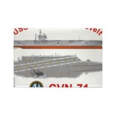 USS Roosevelt CVN-71 Rectangle Magnet