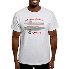 USS Roosevelt CVN-71 T-Shirt