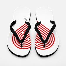 I Love Ebony Flip Flops