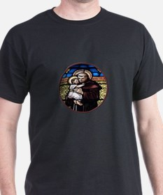 ST. ANTHONY OF PADUA STAINED GLASS WINDOW T-Shirt