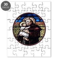 ST. ANTHONY OF PADUA STAINED GLASS WINDOW Puzzle