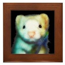 Rainbow ferret Framed Tile