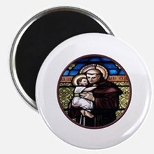 ST. ANTHONY OF PADUA STAINED GLASS WINDOW Magnet