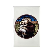 ST. ANTHONY OF PADUA STAINED GLASS WINDOW Rectangl