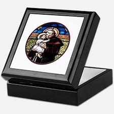 ST. ANTHONY OF PADUA STAINED GLASS WINDOW Keepsake