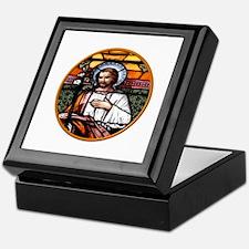 ST. JOSEPH STAINED GLASS WINDOW Keepsake Box