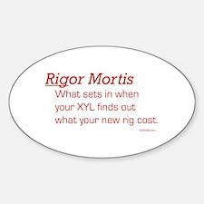 Rigor Mortis For You Rectangle Decal